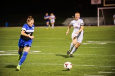 Senior Brice Grieshop fights for the ball