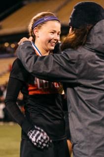 Jordan Morrison accepts her medal