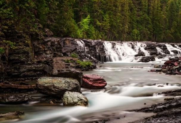 River in Glacier National Park-L