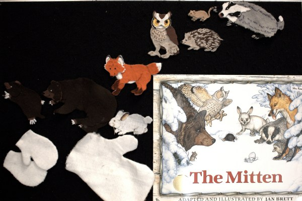 Mitten Felt Story Retelling - Love Laughter And
