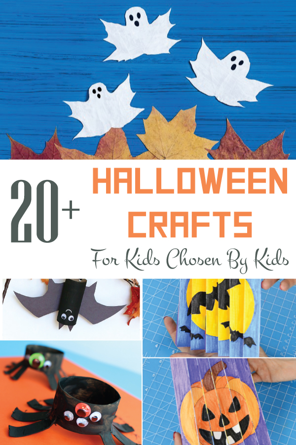 20 plus halloween crafts that the kids will love to make this halloween.