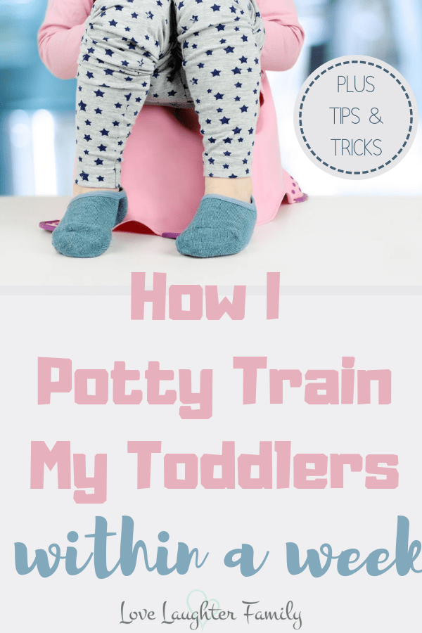 how to potty train a toddler within a week