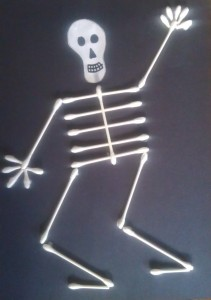 skeleton halloween craft