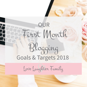 first month blogging goals