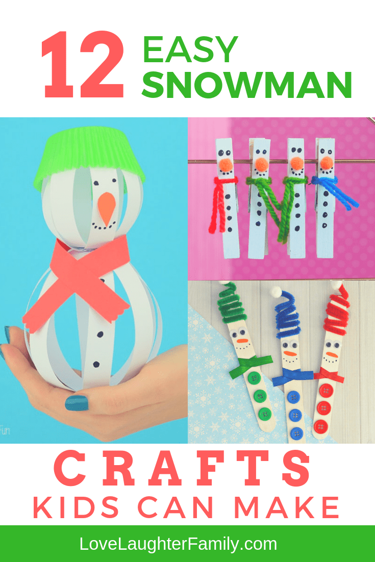 You need to try these 12 Snowman crafts kids can make this feastive seaon. Kids crafts that kids can make this Christmas.