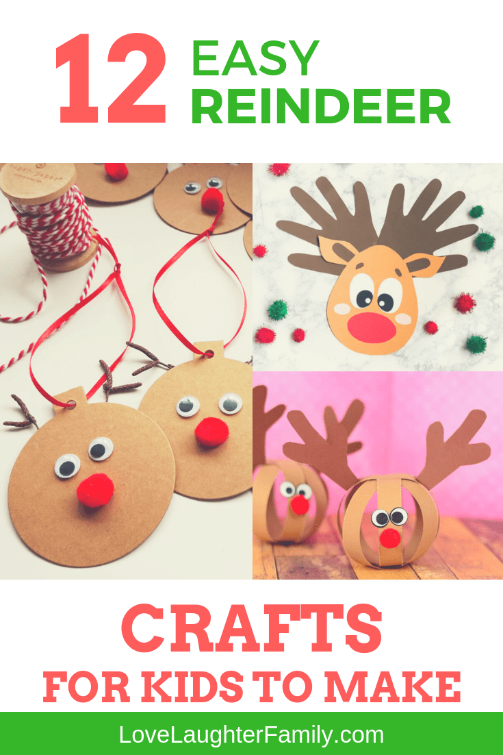 Spend some time with the kids making thses easy and fun Reindeer crafts with some easy to find materials. 12 easy to make reindeer crafts this christmas for kids.