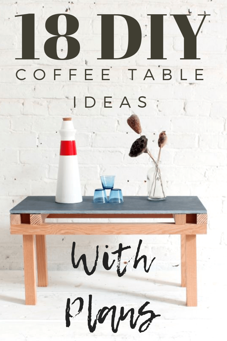 Get your tools out and start building your very own coffee table. Here we have 18 coffee table plans that are all DIY friendly with plans that any novice can make.