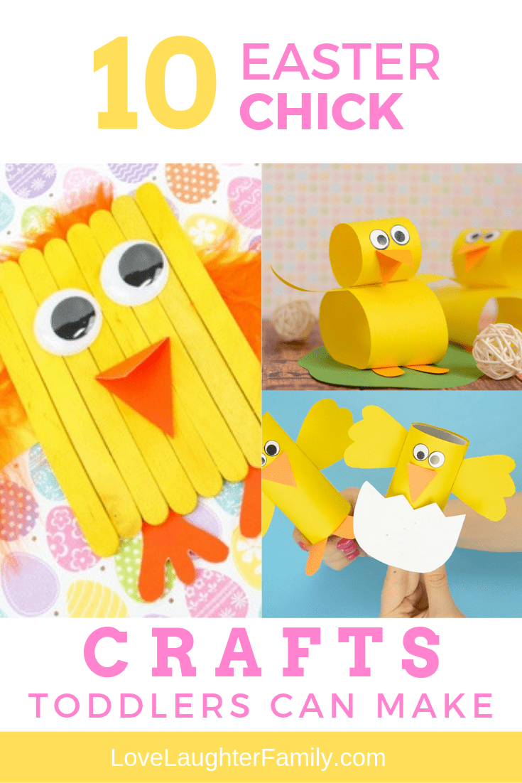 10 cute easter chick crafts that you can make with your toddlers this Easter. Crafts that kids and toddlers can make.
