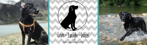 Love Laugh Woof website header