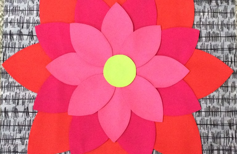 Freezer Paper Applique Flowers