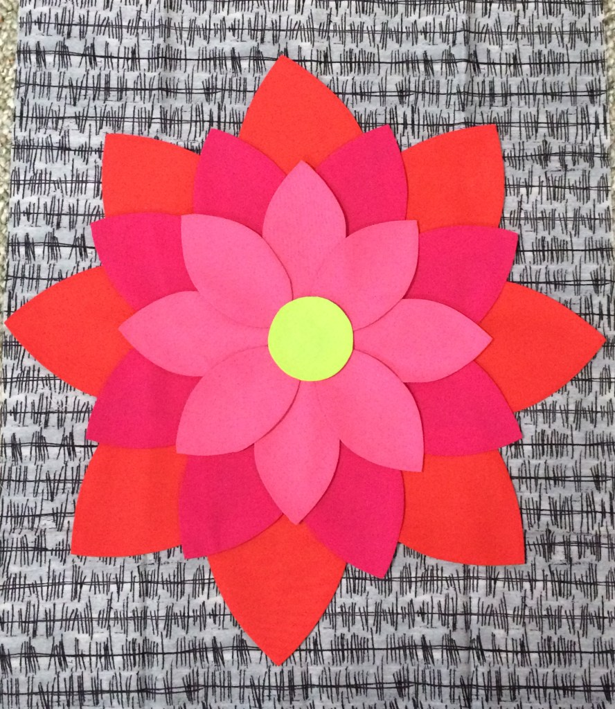 Flower Applique Freezer Paper Method