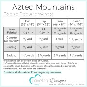 Fabric Requirements Aztec Mtns