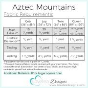 Fabric Requirements Aztec Mtns