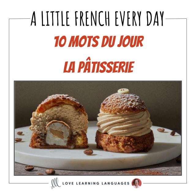 French vocabulary list pastry