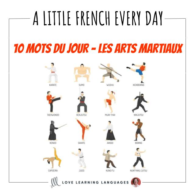 French Vocabulary list - 10 words about martial arts