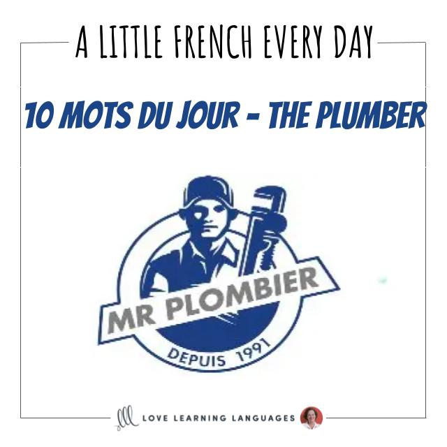 French Vocabulary list - 10 words about the plumber.