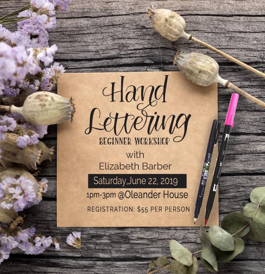 June Hand Lettering Workshop promo