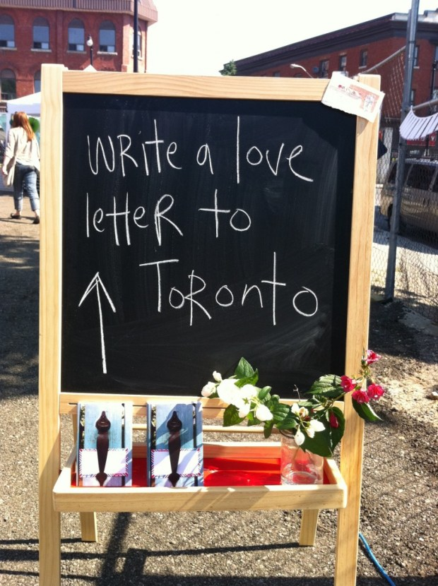 love lettering project, junction, toronto, junction flea market