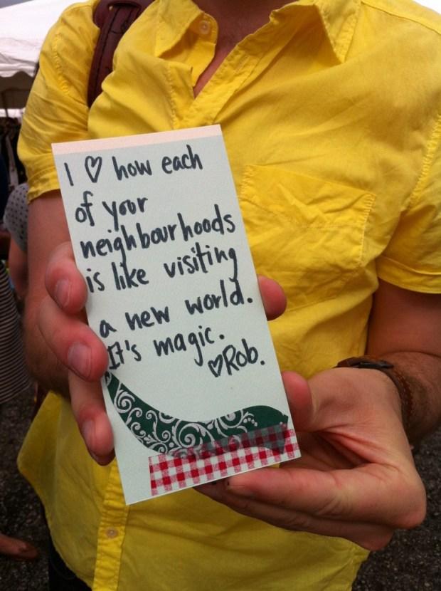 Toronto, junction, junction flea, love, love lettering project, lindsay zier-vogel, August 12