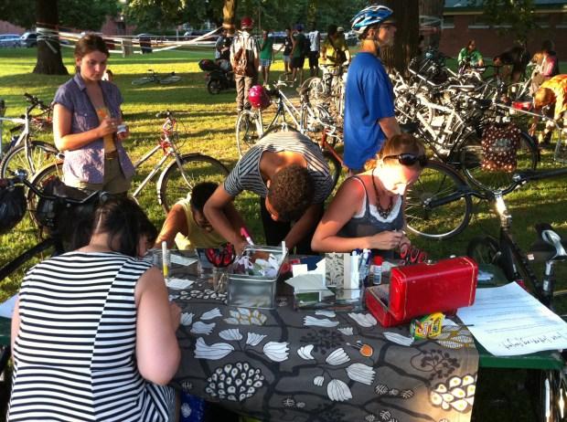 love lettering project, art spin, toronto, bikes, love, lindsay zier-vogel
