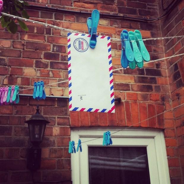 Love lettering + laundry in Nottingham