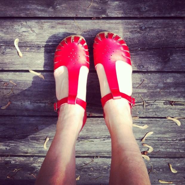 My brand new cherry red Swedish Hasbeens