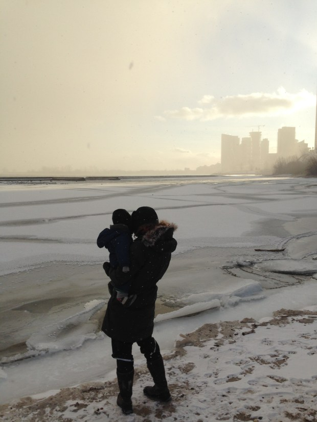 Watching the city disappear into a snow storm on the side of Lake Ontario would've been impossible without my trusty snow pants!