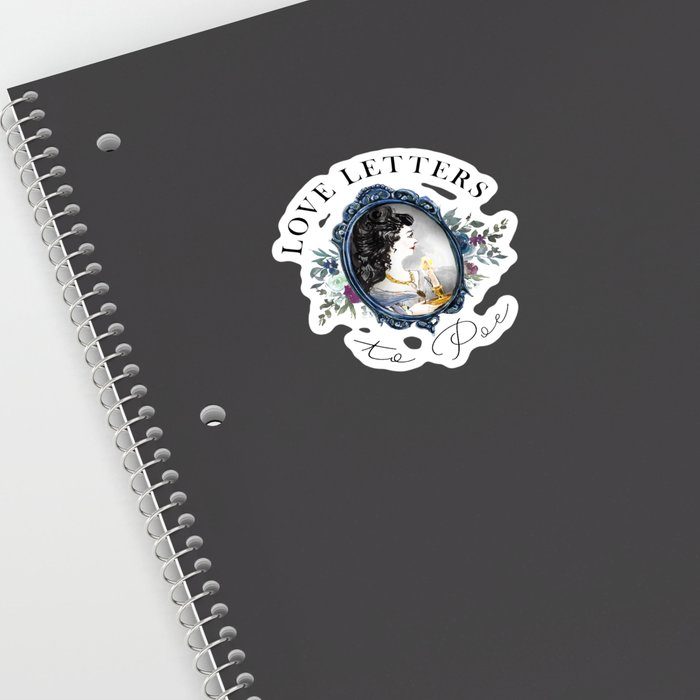 Love Letters to Poe sticker on notebook