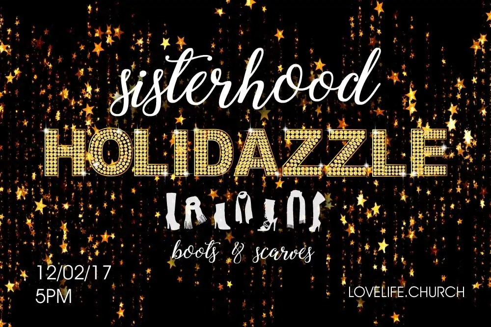 Celebrate and have fun with friends while enjoying hot coco, sweet treats, games and prizes. Registration is FREE! Register soon, as space is limited. Sisterhood Holidazzle is for all women ages 13 and older. No childcare available.