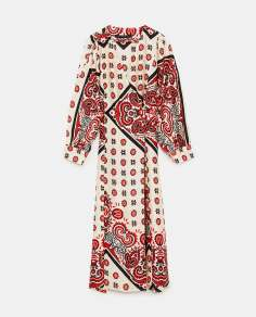 Robe porte-feuille en coton imprimé, 399 DH, Zara