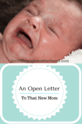 An open letter to all New Moms, from a New Mom