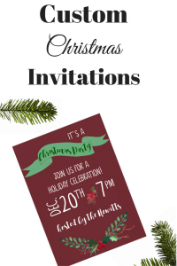 Custom Christmas Invitations by Acres A Bloom