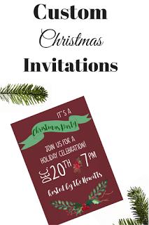 Custom Christmas Invitations