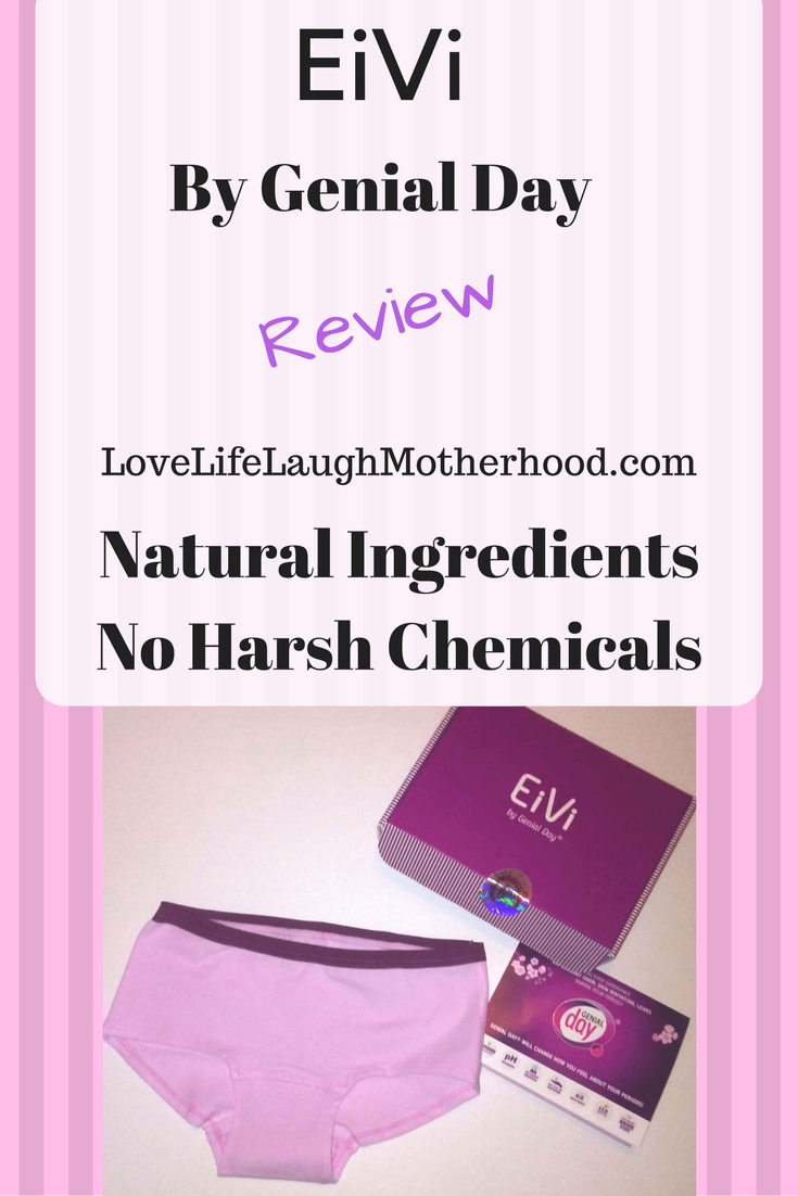 An honest review of the feminine products offered by Genial Day, including their new EiVi Period Panties!