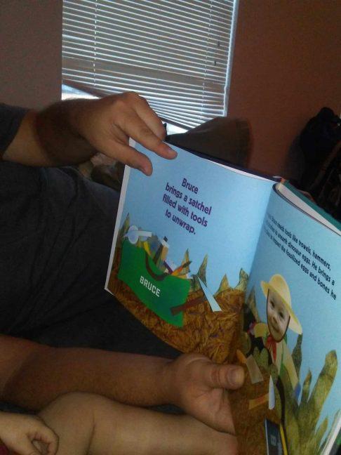 ISeeMe personalized dinosaur egg hunt book