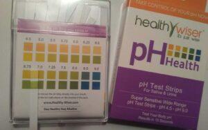 pH balance test strips