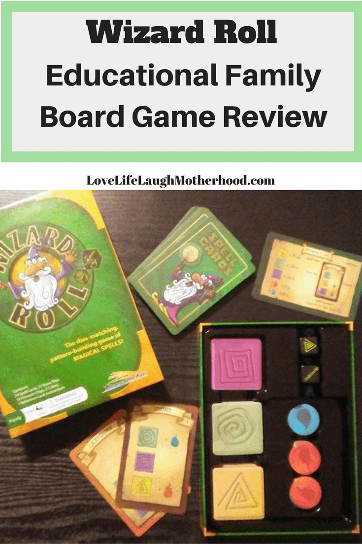 Wizard Roll - Educational Family Board Game, incorporating memory, reading, and counting. Fun for kids and adults!
