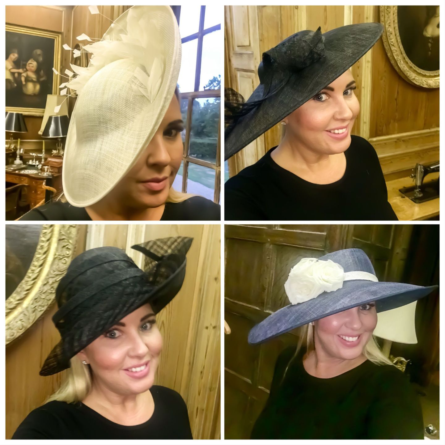Victoria Charles handmade hats and head pieces.