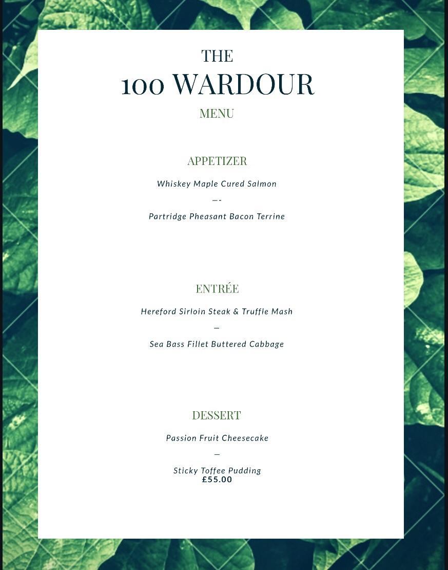 100 Wardour Street London