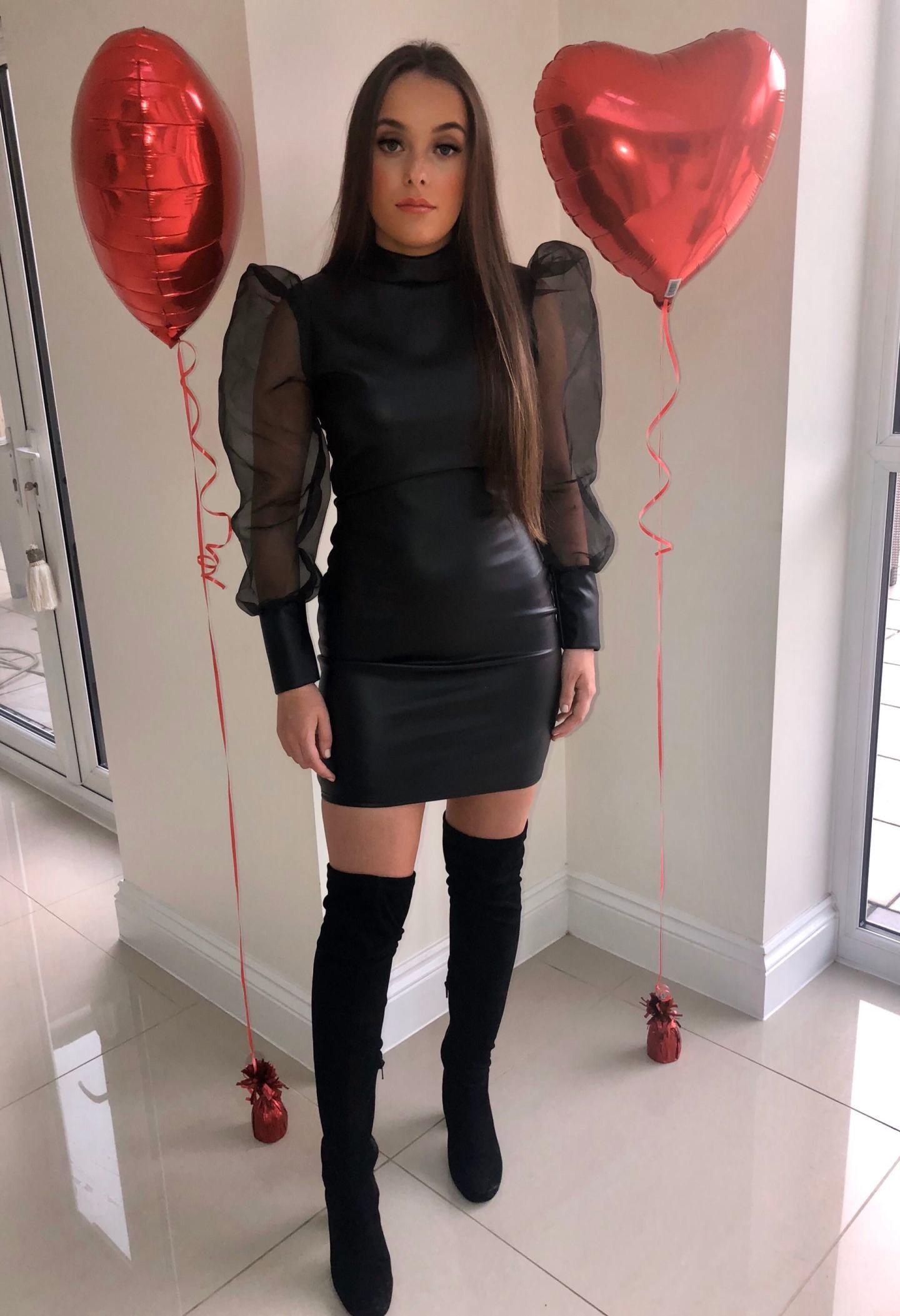 What To Wear Valentine's Day 2020 - black PU Mini Dress