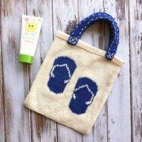 Flip Flop Tote - Free Knitting Pattern
