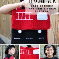 How to Crochet a Fire Truck Backpack - Free Crochet Pattern