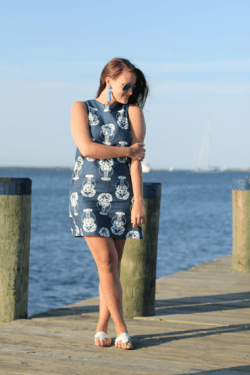Bold Lobster Navy, Catalina Dress