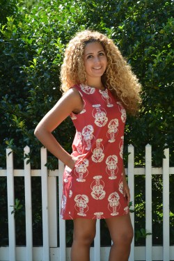 Bold Lobster Red, Catalina Dress