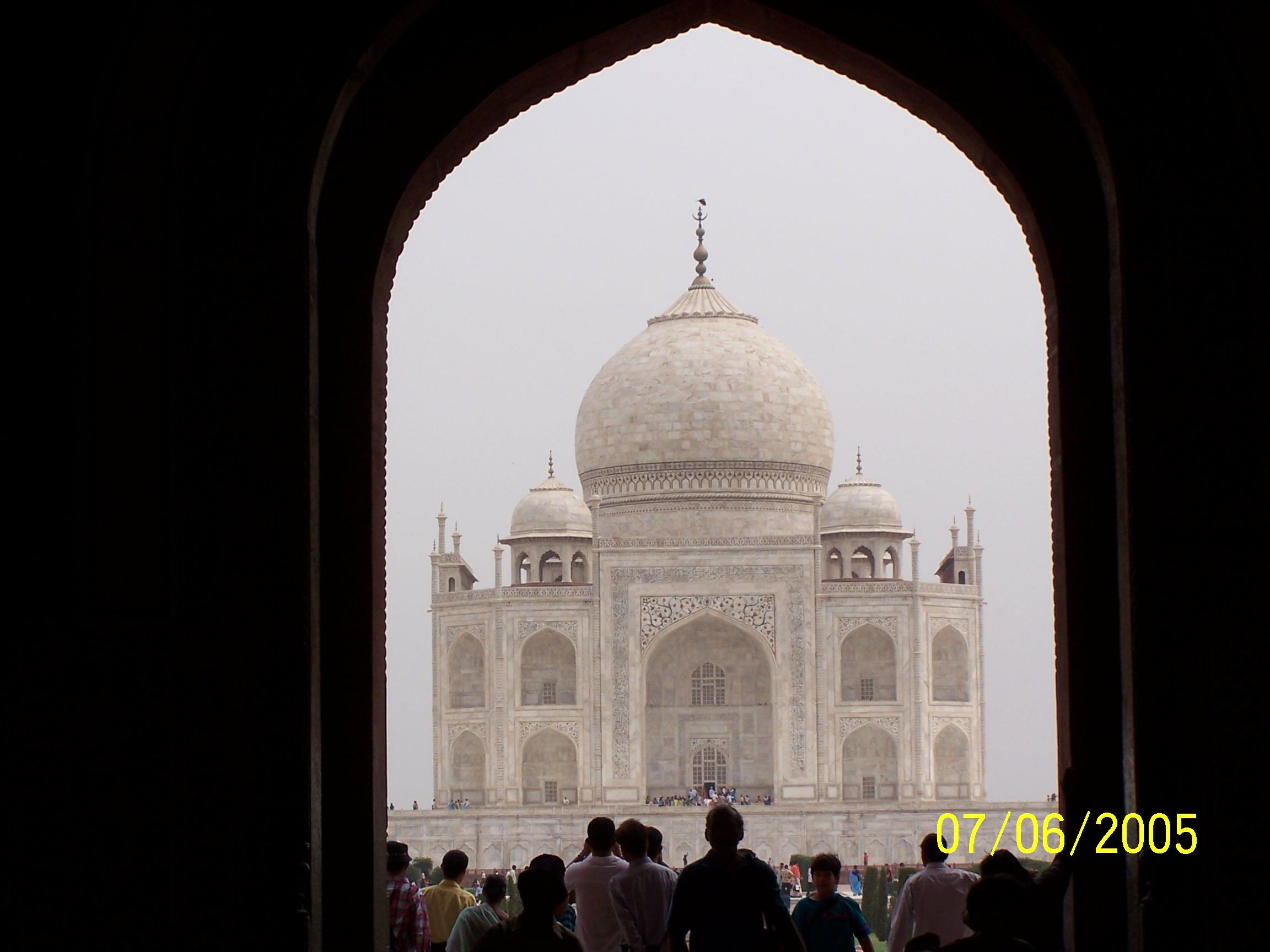 First view of the Taj