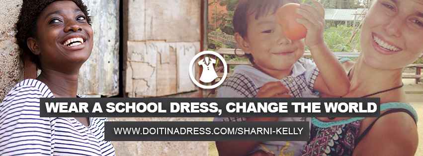 Sharni is doing it in a dress! (1/4)