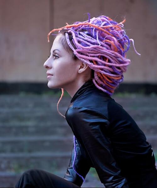 Synthetic women dreadlocks styles lollipop