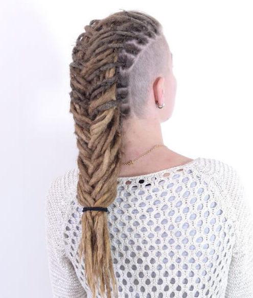Mohawk dreads styles fishtail