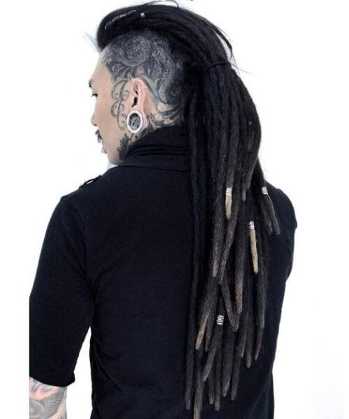 long Mohawk Dreads Styles