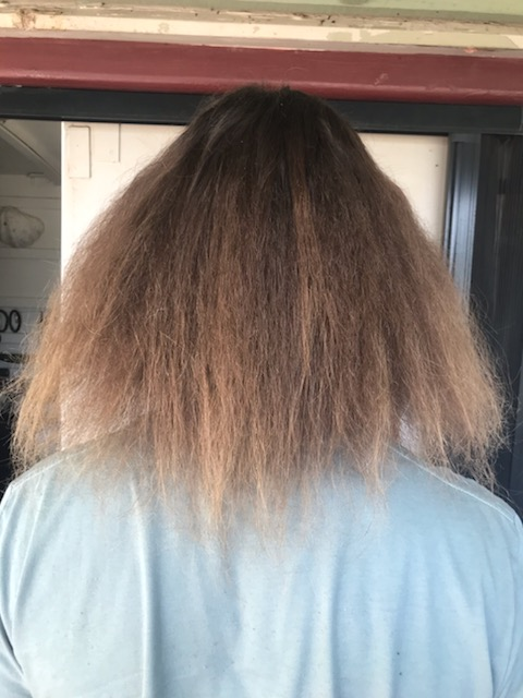 Dreadlocks removal after